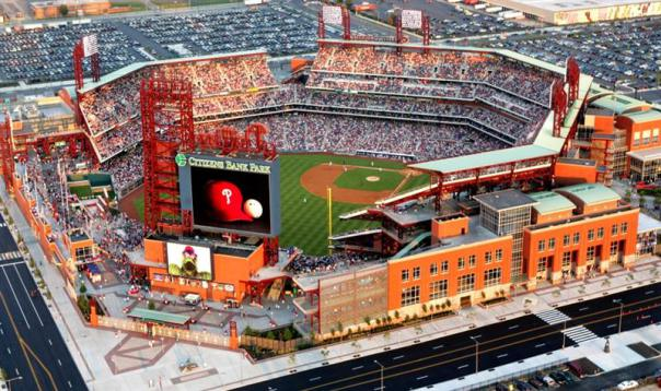 Citizens Bank Ball Park hosts the most doubleheader chances every year. They are compatibile with both New York Parks for doubleheaders, as well as Nats Park and Camden Yards. The best method to use is Amtrak here. but you can still drive to park from all, with Miles ranging from 100 - 135. The Phillies play enough 1:05 games, and those eastern seaboard clubs also see a lot of matinees each season.