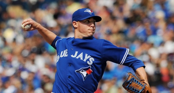 Aug 30, 2014; Toronto, Ontario, CAN;  Toronto Blue Jays relief pitcher Aaron Sanchez (41) delivers a pitch during the Jays 2-0 win over New York Yankees at Rogers Centre. Mandatory Credit: Dan Hamilton-USA TODAY Sports