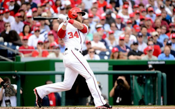 Bryce Harper has finally come of age as a budding superstar in the league with 42 HRs in the 2015 season - which tied him for the NL Lead.  He may be capable of launching up a 50 HR season in his career - however I will believe that he will be pitched around a lot more in 2016 than he was last year.