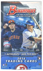 2016 bowman baseball box